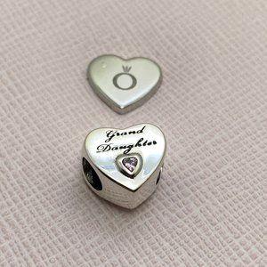 PANDORA Granddaughter's Love Charm, Pink CZ